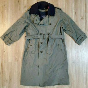 Burberrys Of London Mens Wool Gray Trench 42